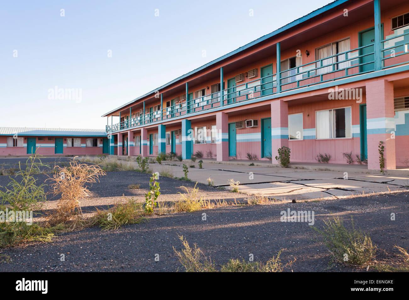 Abandoned motel (deserted building) - Arizona USA - Stock Image