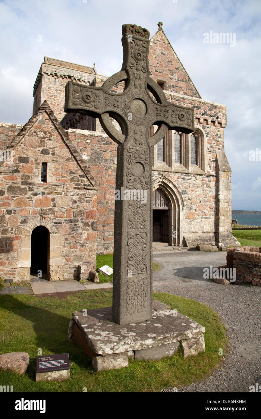 Iona Abbey, Scotland - Stock Image