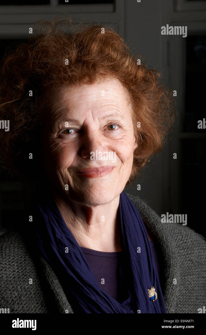 Elisabeth Luard at the Oldie Literary Lunch 14/05/13 - Stock Image