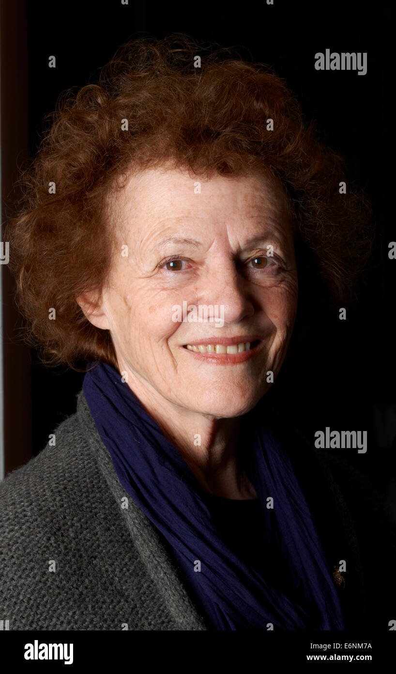 Elisabeth Luard at the Oldie Literary Lunch 14/05/13 Stock Photo