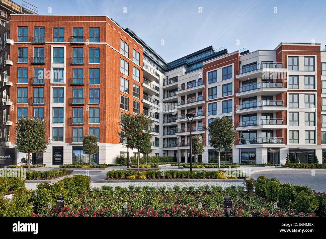 Chelsea Creek Luxury Apartments In London.   Stock Image