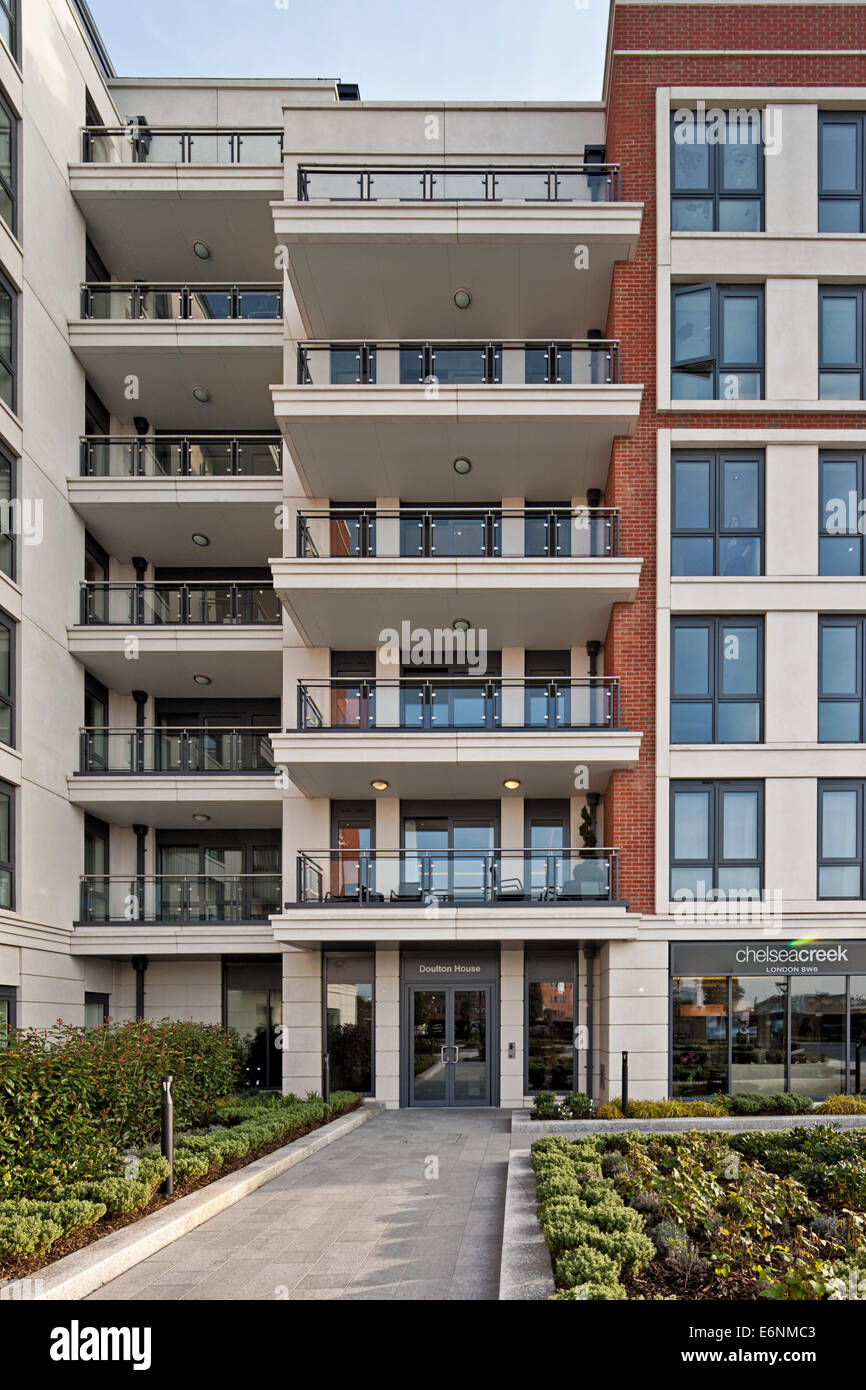 top quality great quality beauty Chelsea Creek luxury apartments in London Stock Photo ...