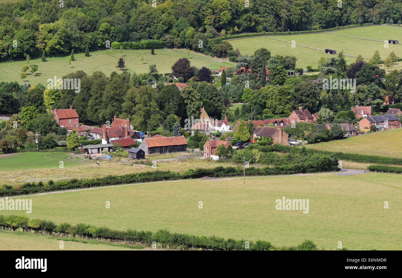The Hamlet of Fingest in the Chiltern Hills in Buckinghamshire - Stock Image
