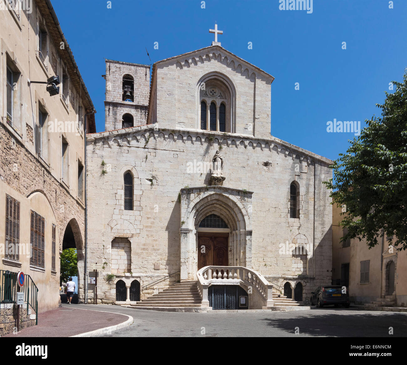 Grasse Cathedral church, Grasse, Provence, France, Europe - Stock Image