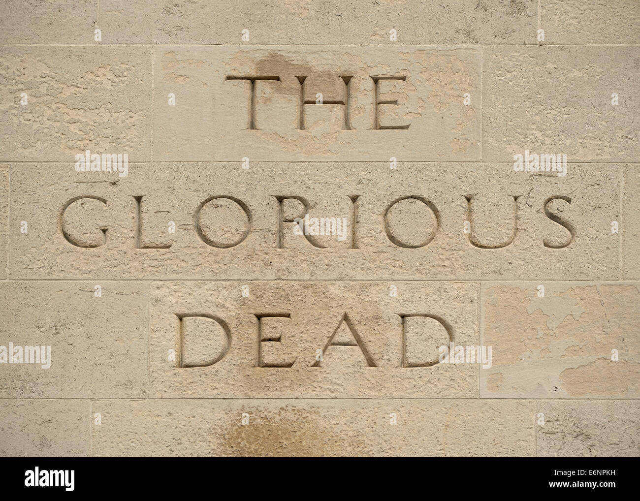 The Cenotaph War Memorial, Close Up, Whitehall, London, UK. - Stock Image