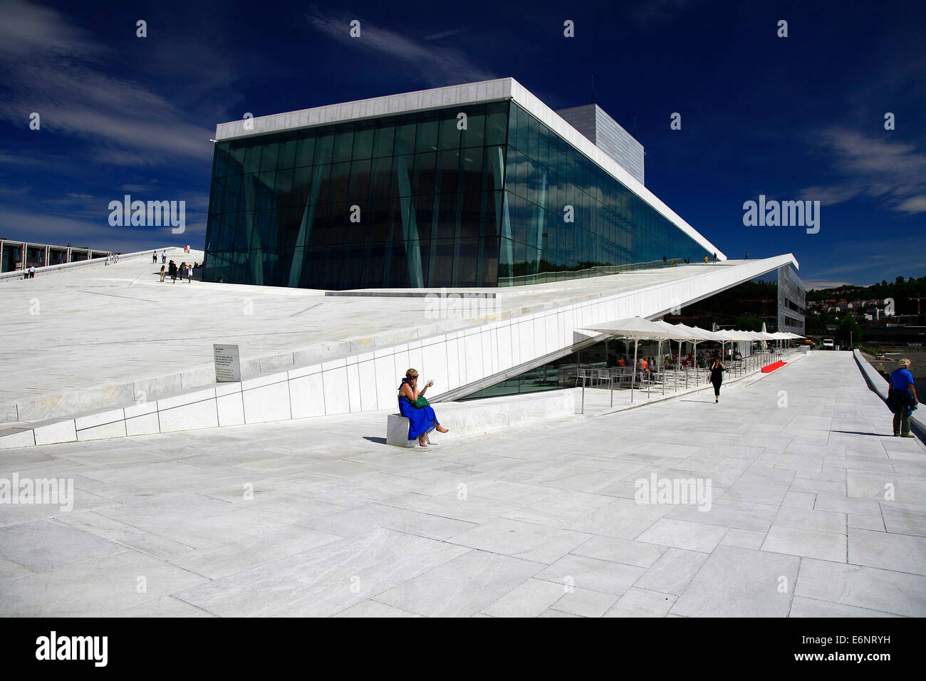 The new Oslo Opera House opened in 2008 and it is the largest Norwegian culture project. The building is modeled - Stock Image
