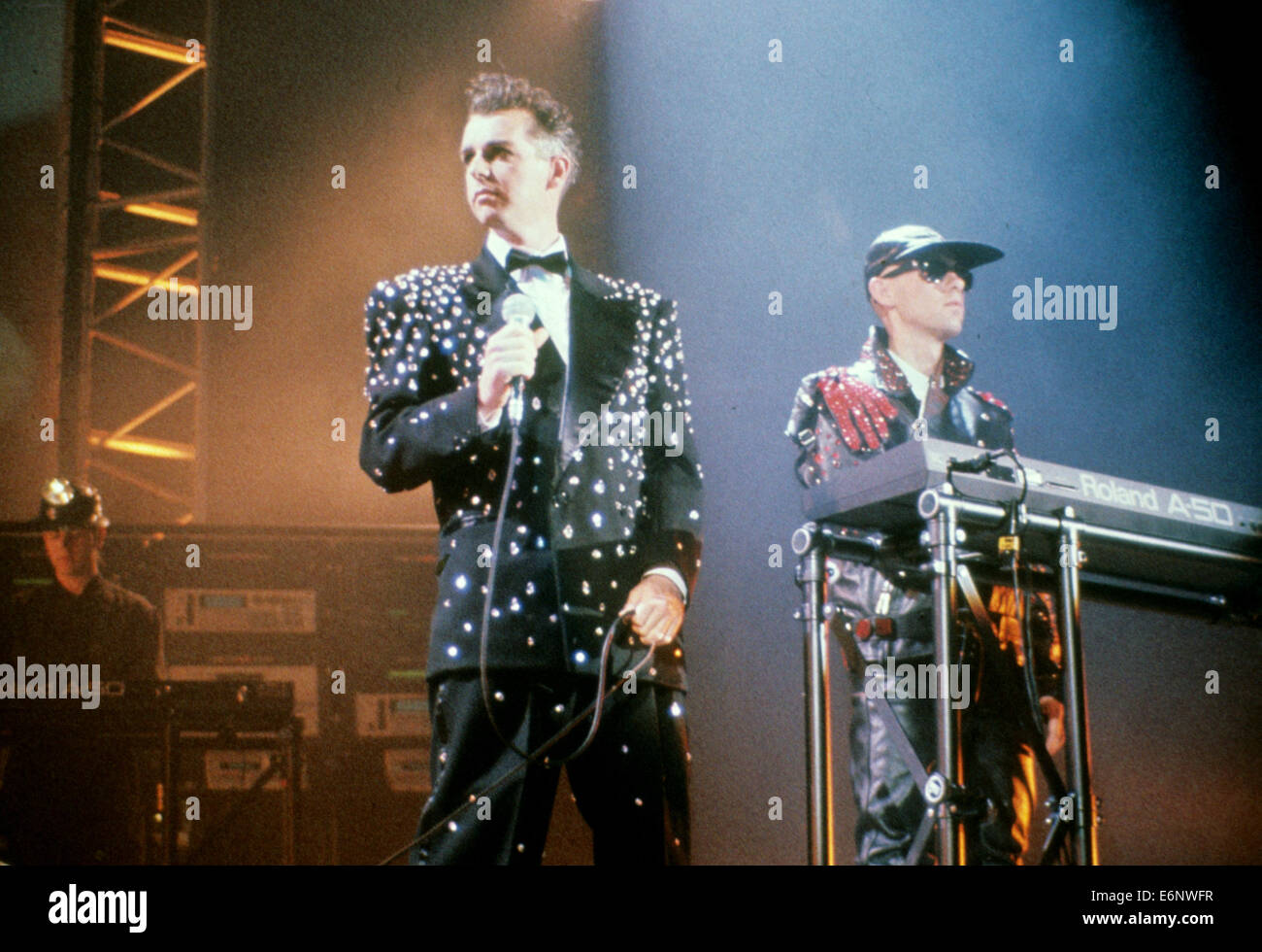 PET SHOP BOYS UK pop duo about 1990 with Neil Tennant at left and Chris Lowe. Photo Hanne Jordan - Stock Image