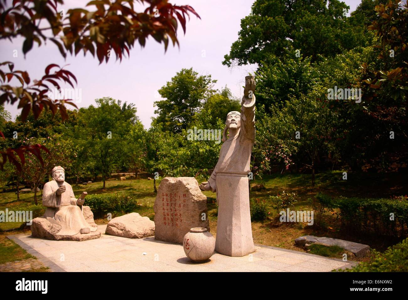 Hefei. 28th May, 2014. Photo taken on May 28, 2014 shows the statues ...