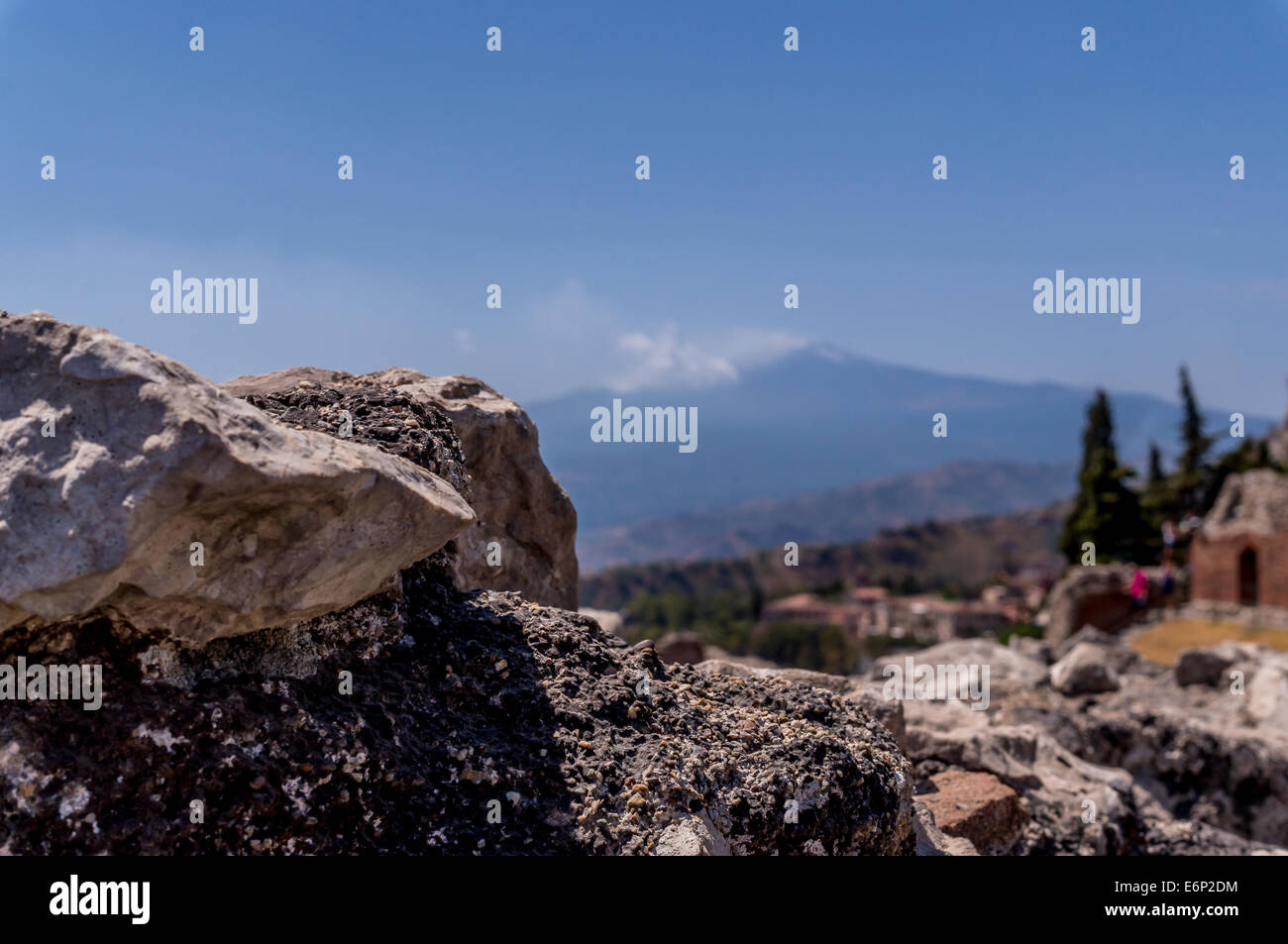 View of Mount Etna - Stock Image