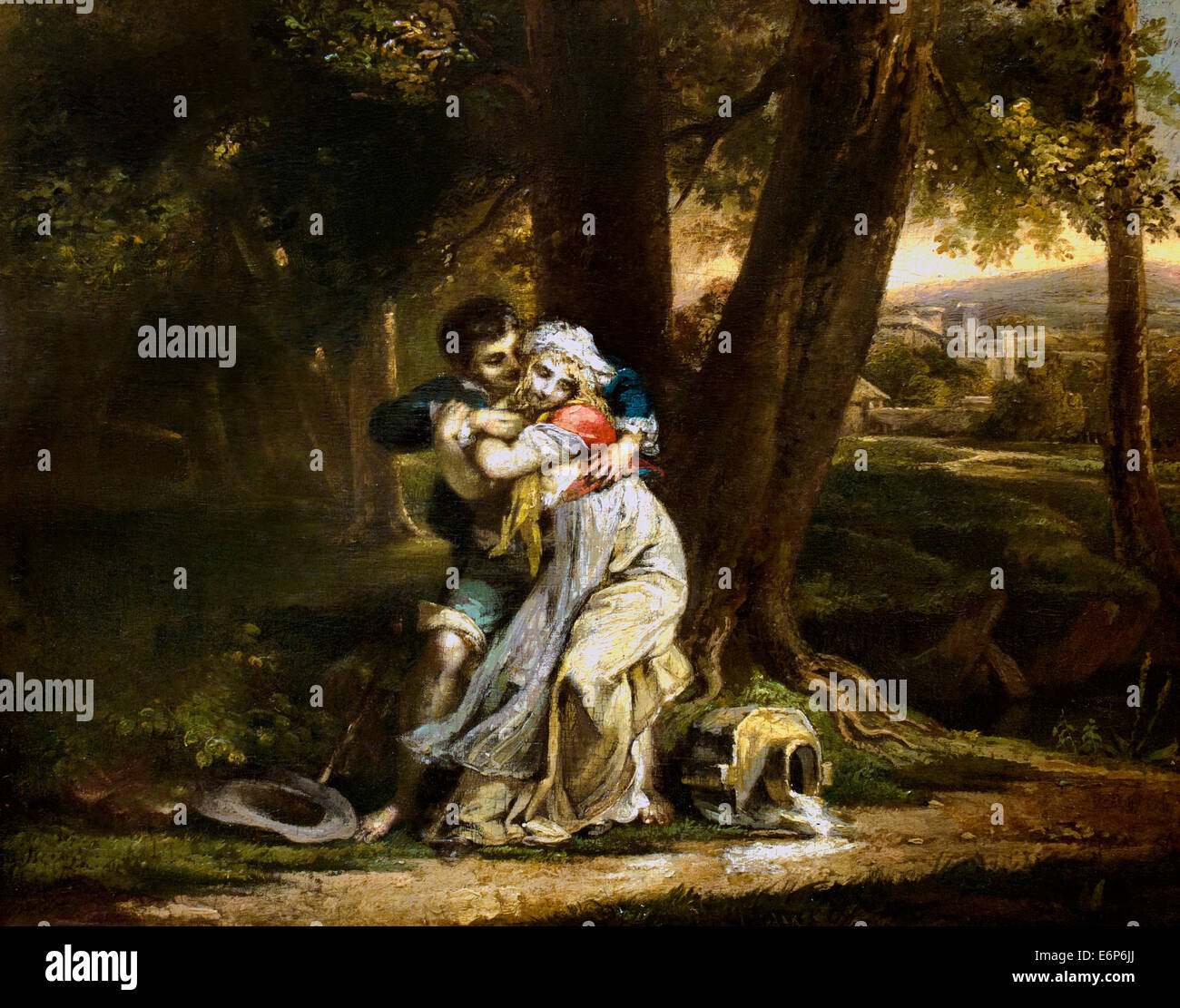 Seduction after Peter Paul Prud`hon 1758-1823 France French - Stock Image