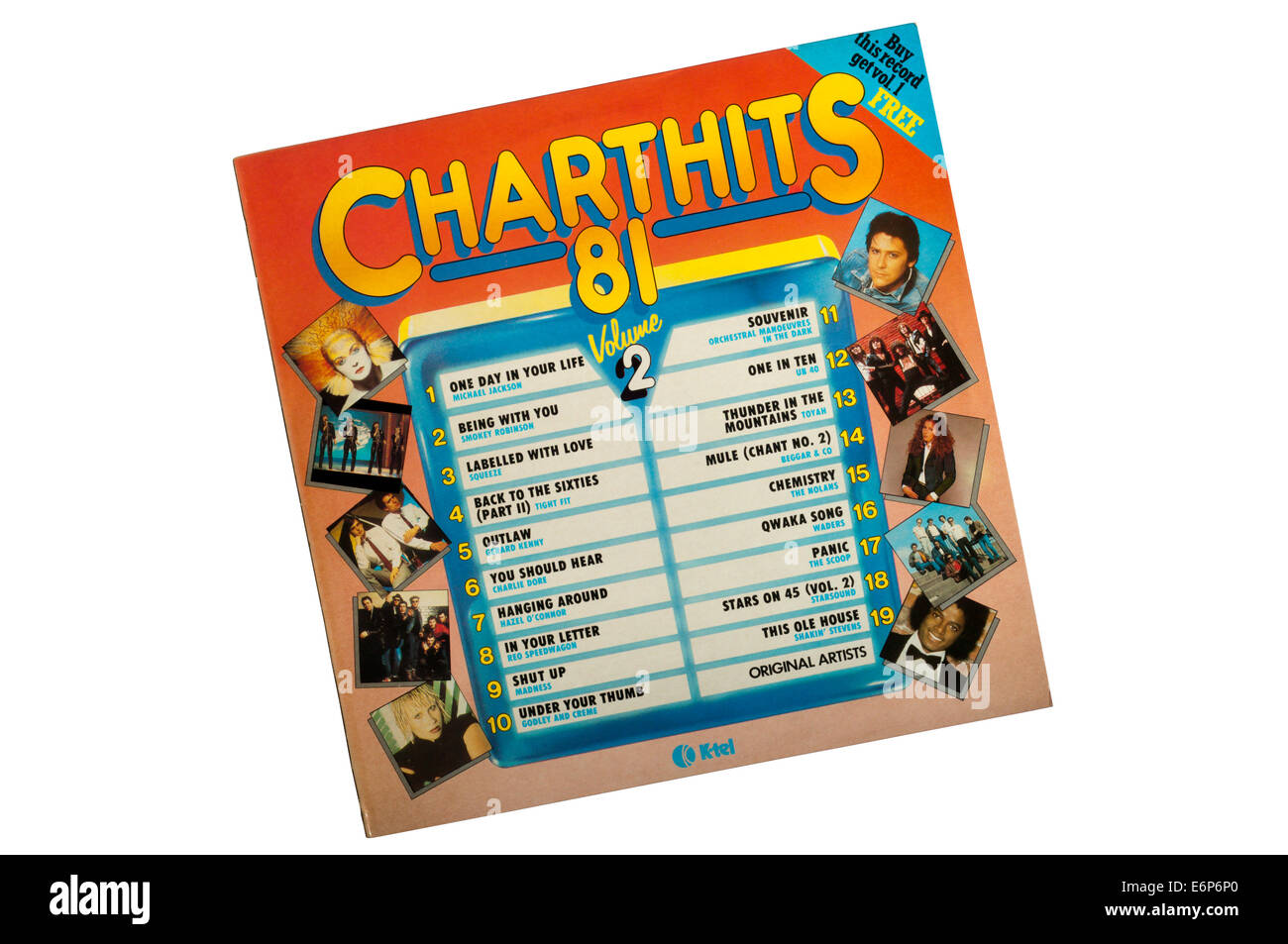 Chart Hits 81 Volume 2 was a compilation album released by K-Tel in 1981. - Stock Image