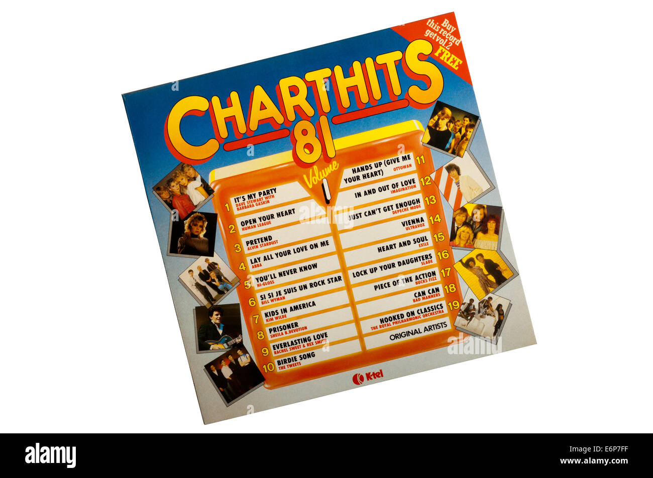Chart Hits 81 Volume 1 was a compilation album released by K-Tel in 1981. - Stock Image