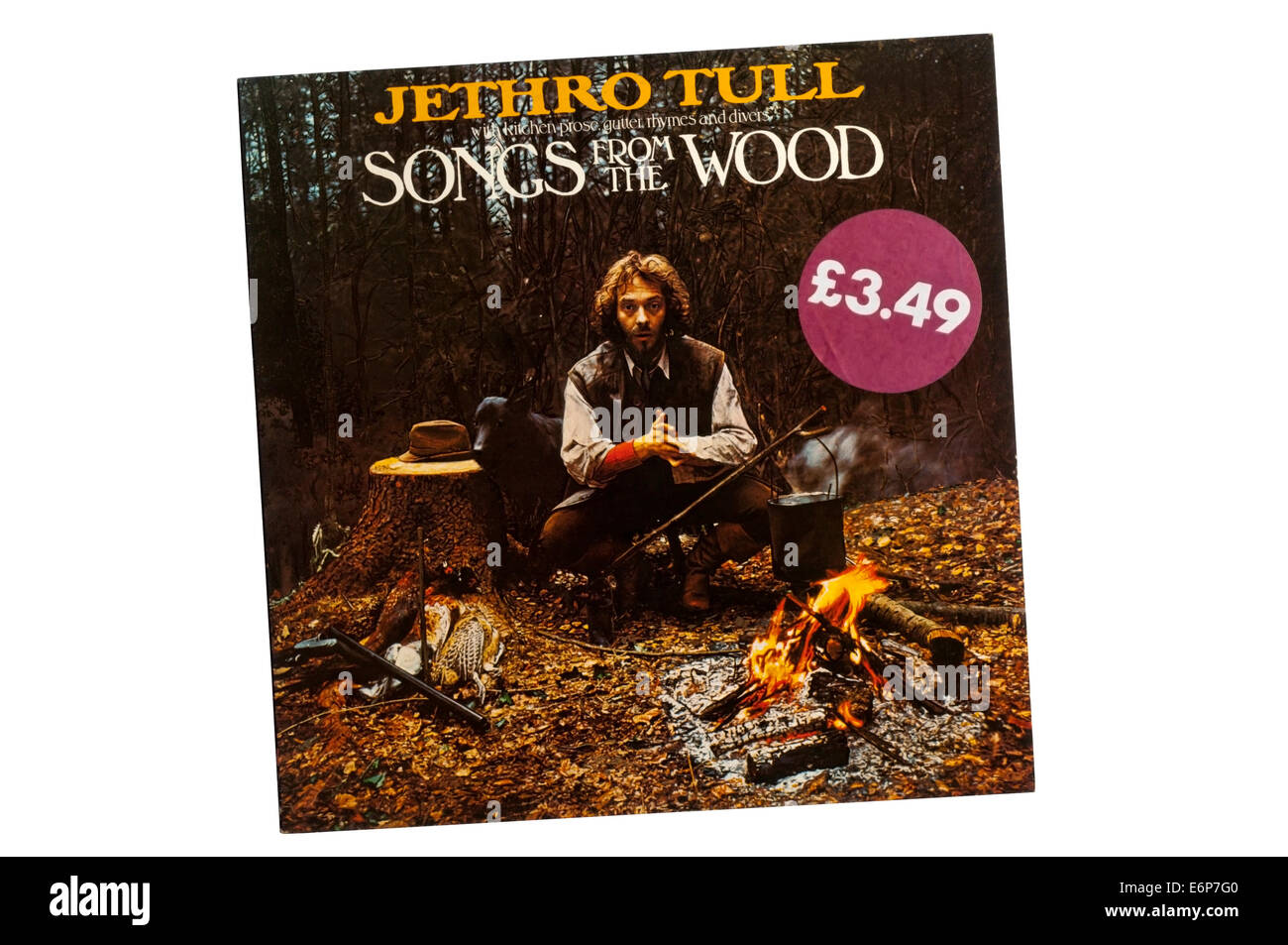 Songs from the Wood was the tenth studio album by Jethro Tull, released in 1977. - Stock Image