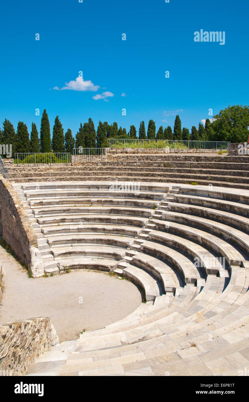Odeon, the ancient amphitheatre, Kos town, Kos island, Dodecanese islands, Greece, Europe - Stock Image