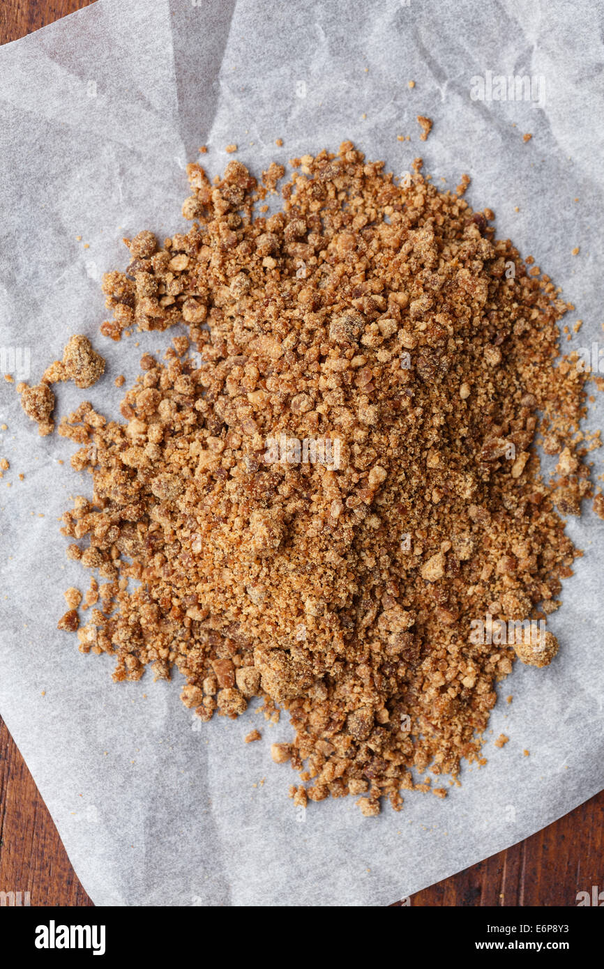 Organic coconut palm sugar - Stock Image