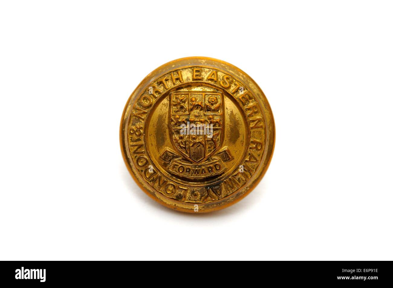 London and north eastern railway badge button - Stock Image