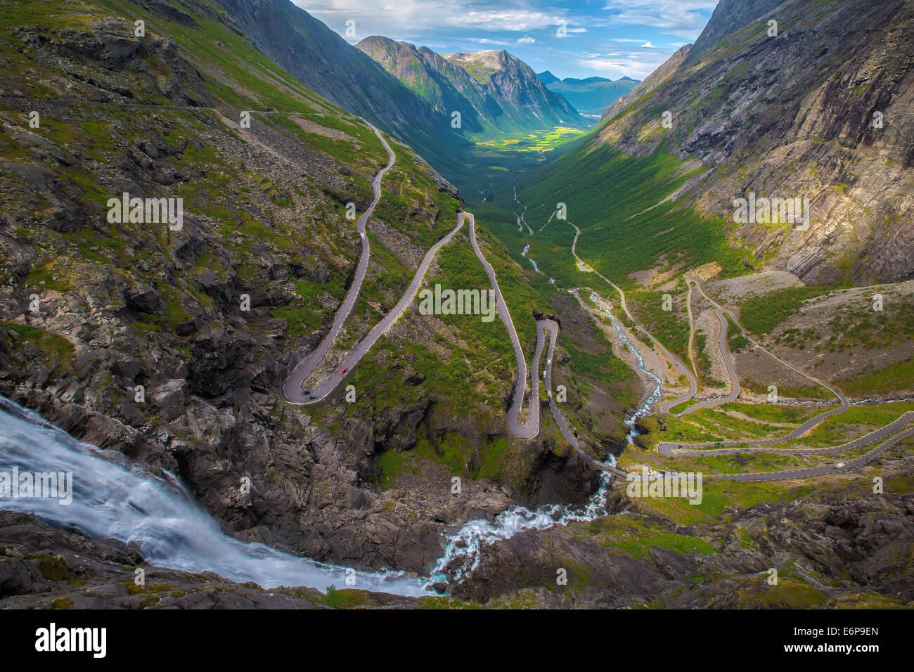 Trollstigen in Norway - Stock Image