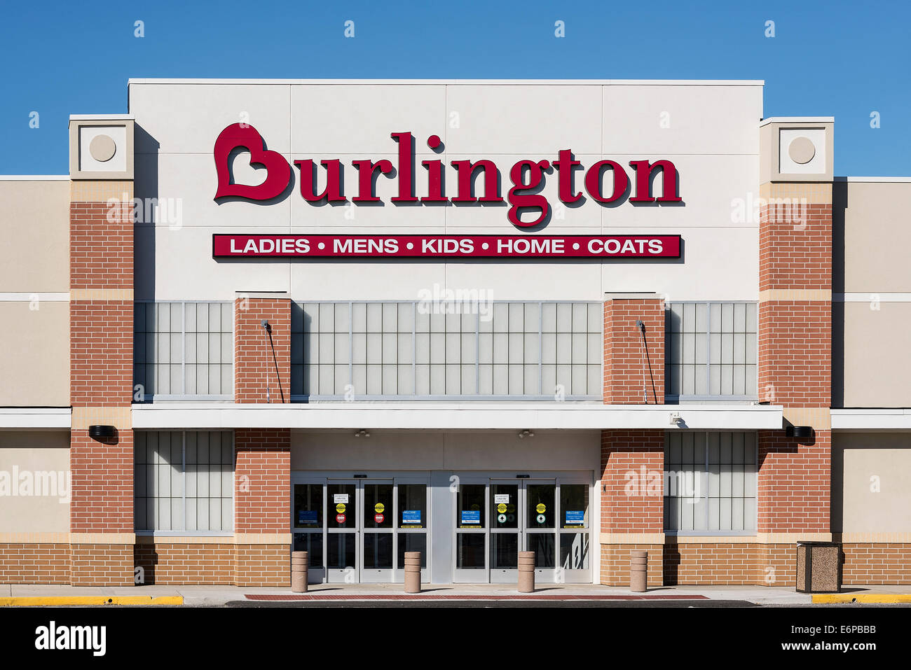 Burlington Coat Factory store exterior, Mt. Laural, New Jersey, USA - Stock Image