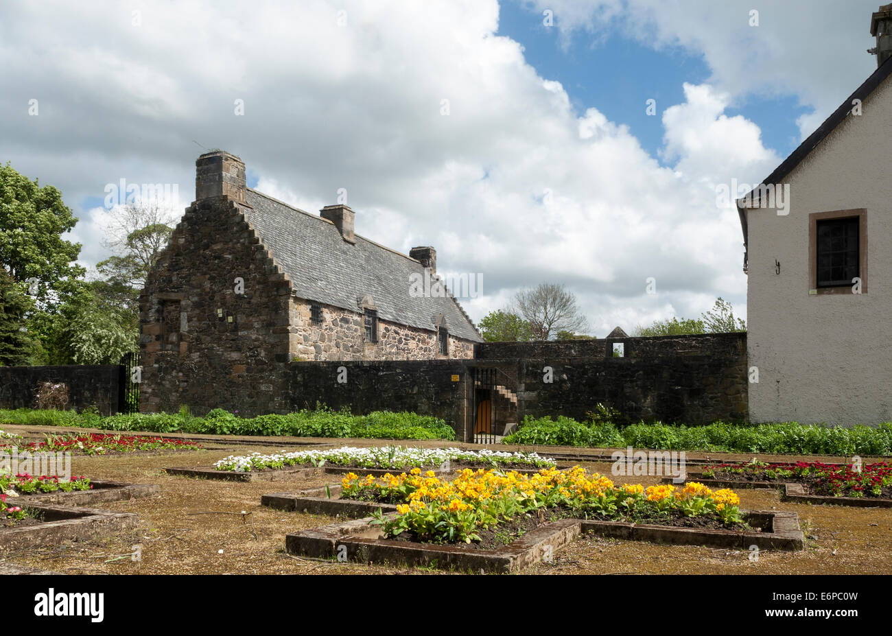 The garden at Provan Hall House Glasgow - Stock Image