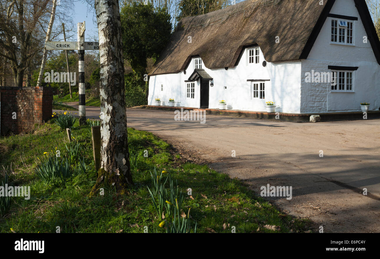 The tiny and picturesque village of Winwick in Northamptonshire on a spring afternoon. Stock Photo