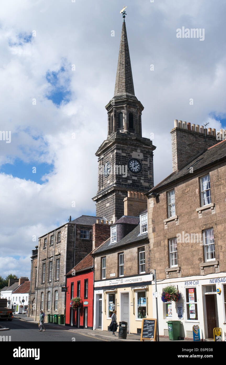 Haddington High Street and Town House, East Lothian,  Scotland, Europe - Stock Image