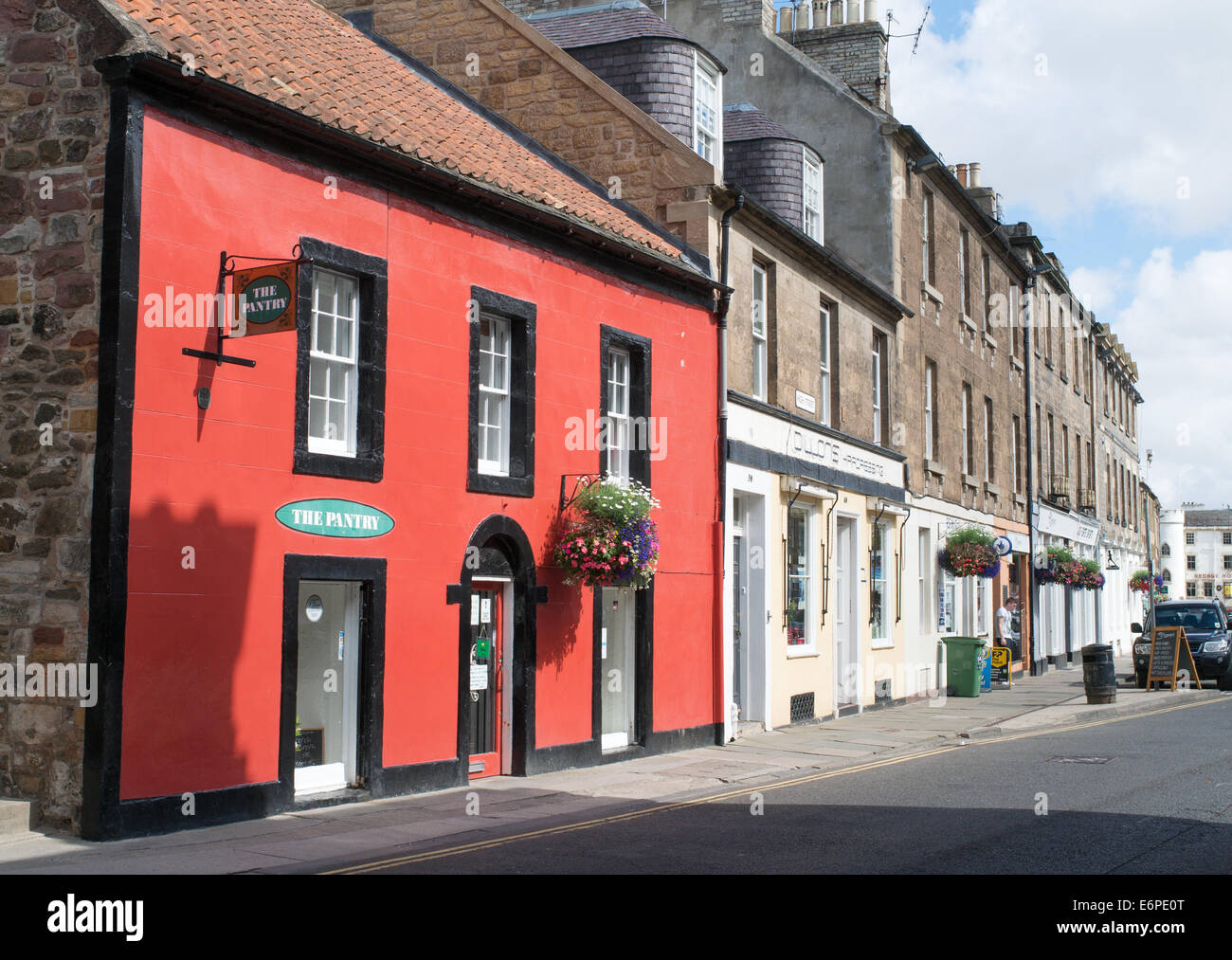 High Street, Haddington, East Lothian,  Scotland, Europe - Stock Image