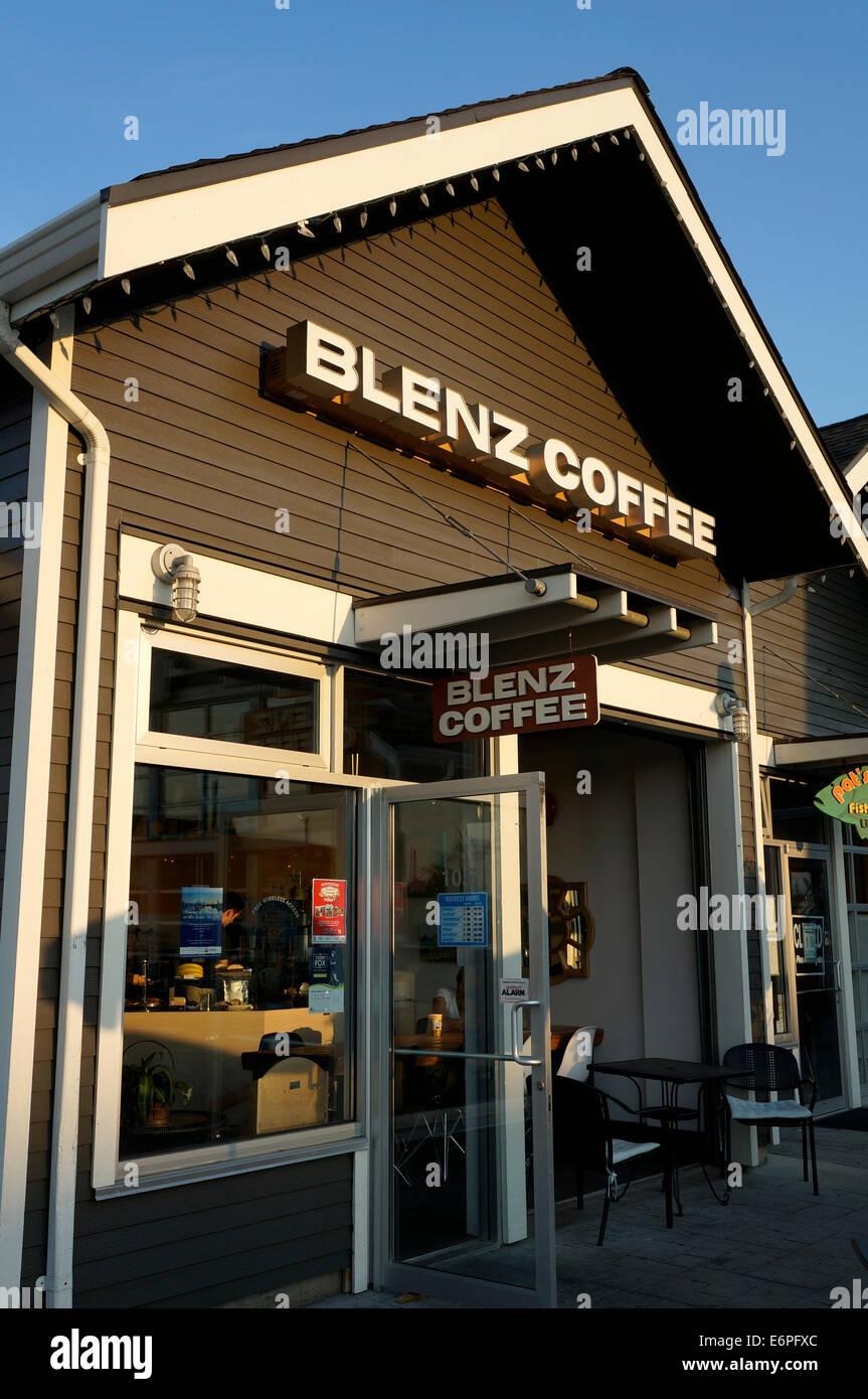 Blenz Coffee shop in Steveston Village, Richmond,, BC, Canada - Stock Image
