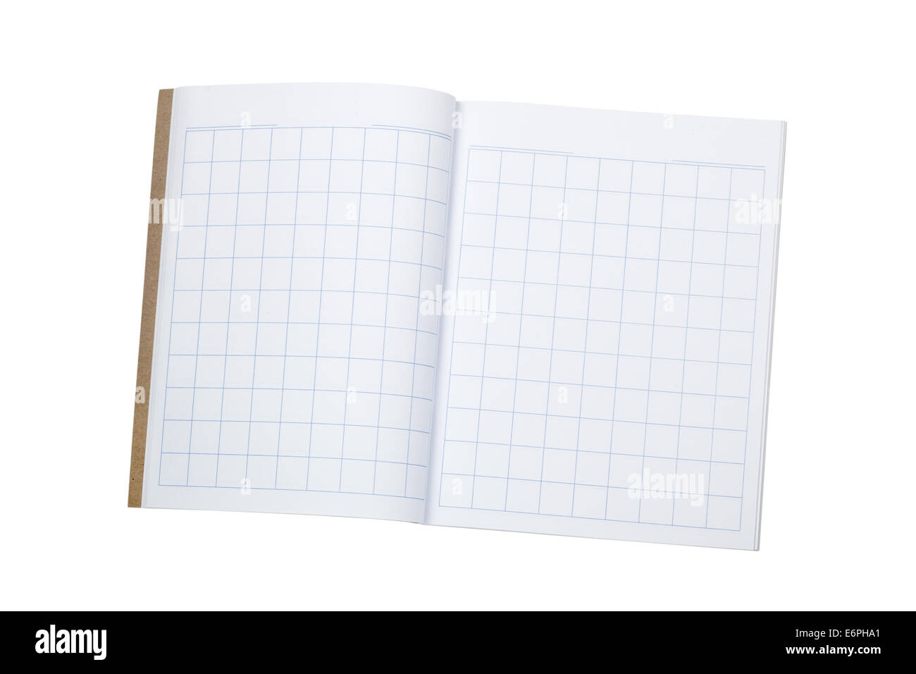 Blank workbook to practice writing chinese characters isolated on ...