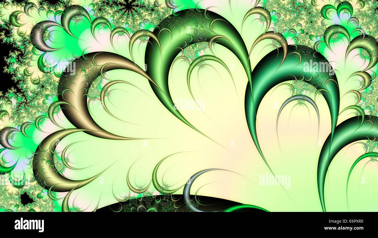 Digital Illustration of a fractal Structure - Stock Image
