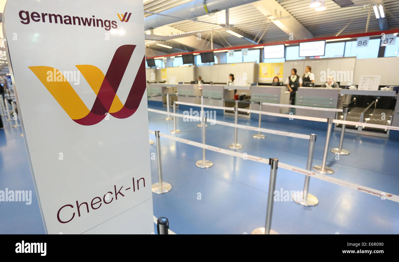 Germanwings Is Written At A Check In Counter At Tegel Airport In