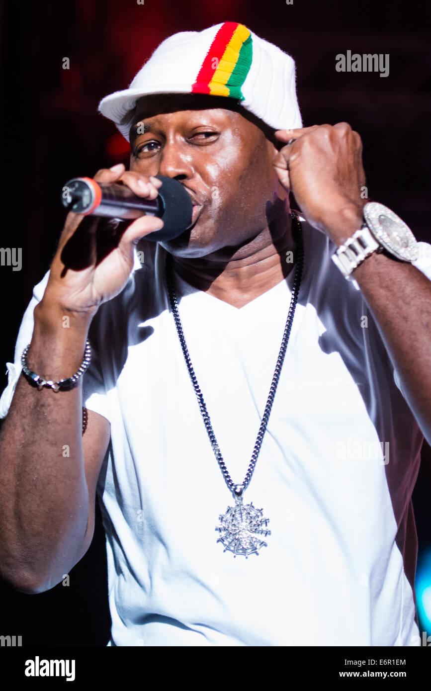 Inner Circle, Jamaican reggae group, headlining the Festival Lent, Maribor, Slovenia, July 4, 2014 - Stock Image