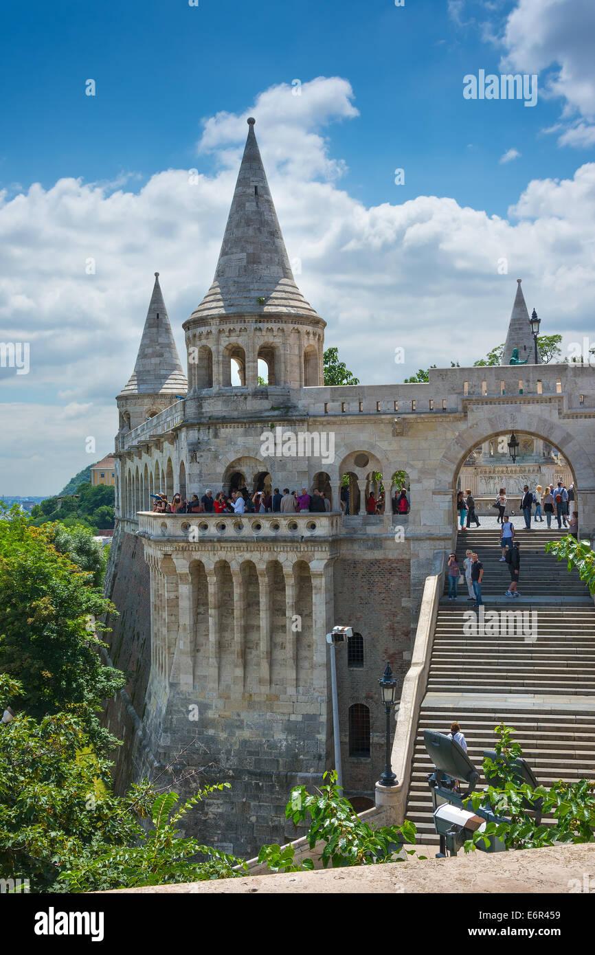 Fisherman's Bastion Budapest Hungary - Stock Image