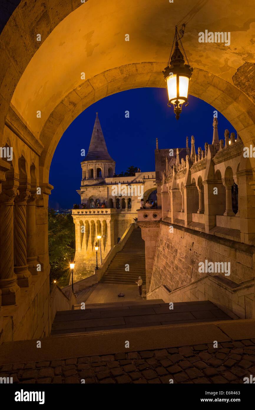 The Fisherman's Bastion Budapest Hungary - Stock Image