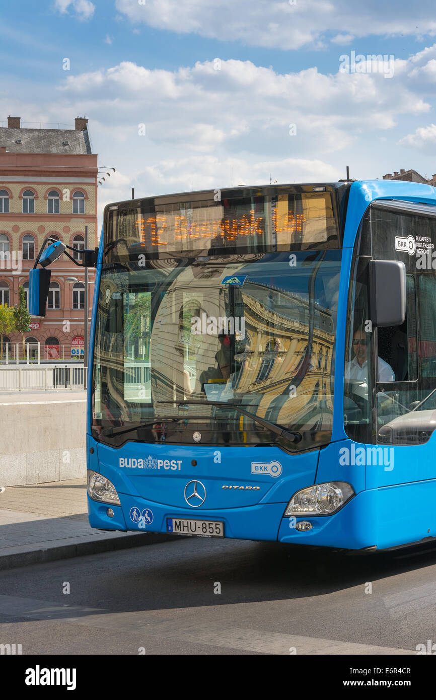 Budapest modern low emission bus by Mercedes-Benz - Stock Image