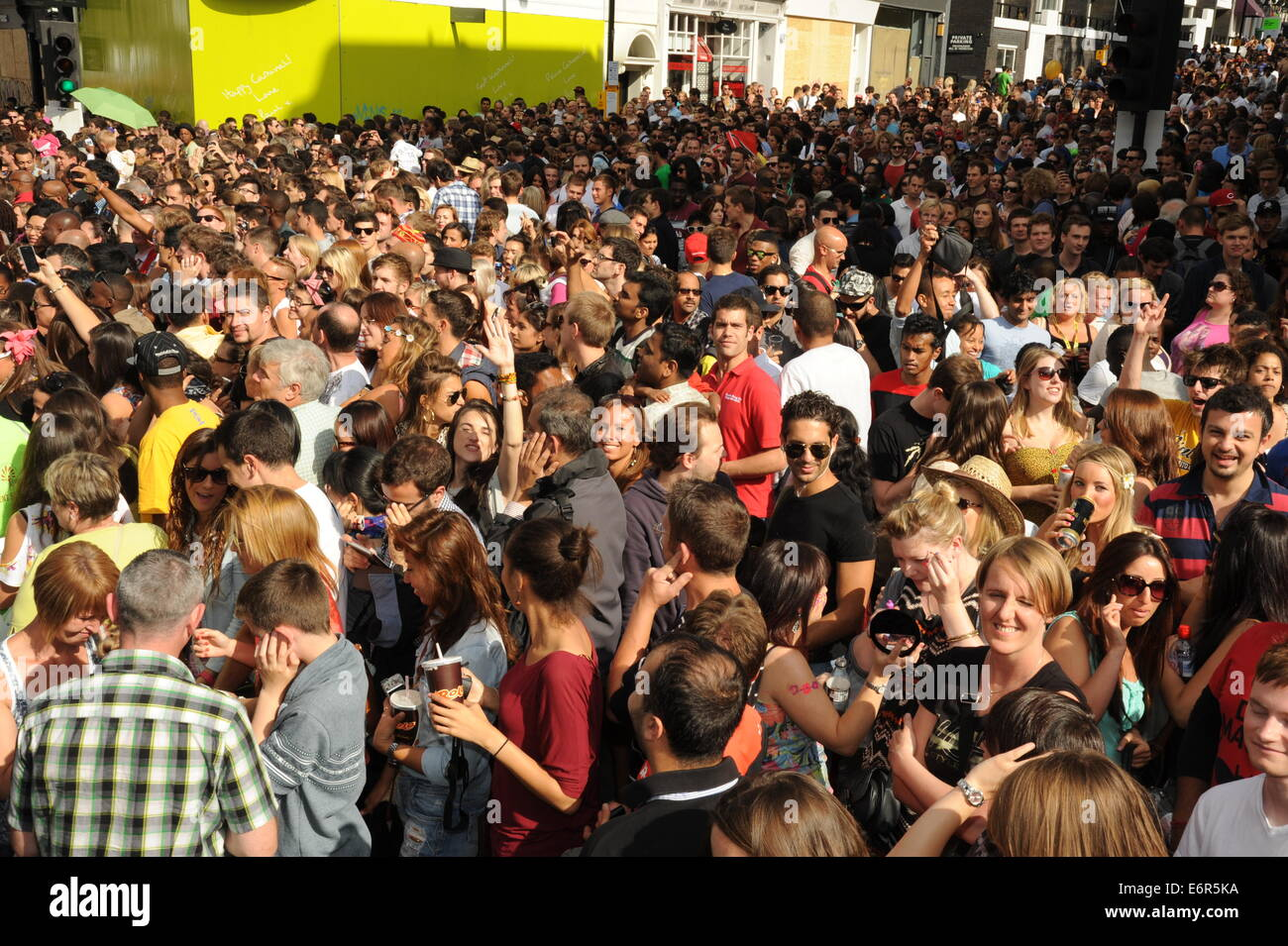 Crowds at Notting Hill Carnival - Stock Image