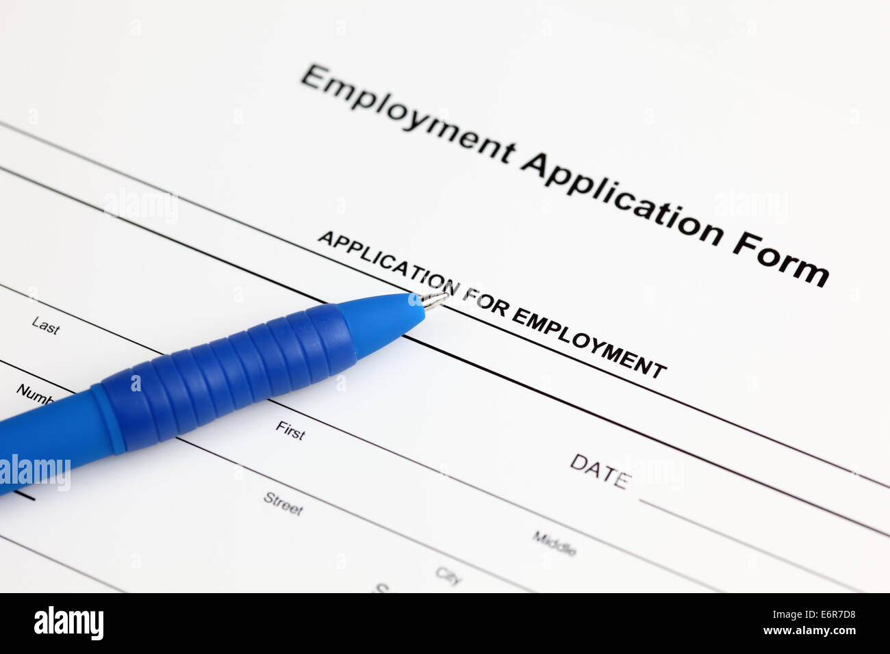 Employment Application Form Stock Photos & Employment Application ...