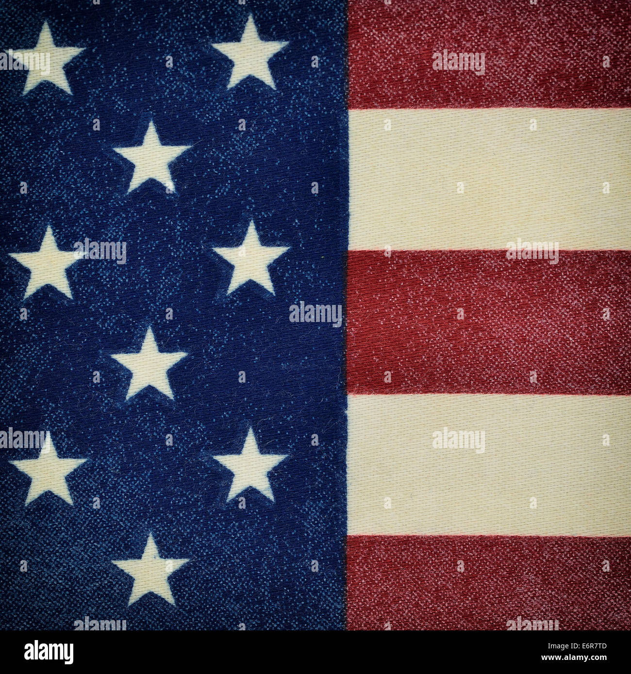 Background made from a piece of the flag of the United States of America with texture material - Stock Image