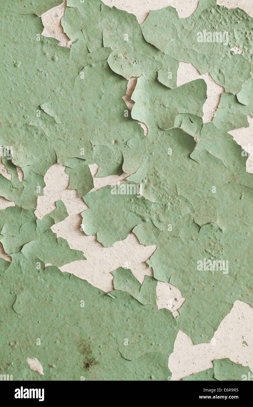 photo of cracked old wall grunge texture - Stock Image
