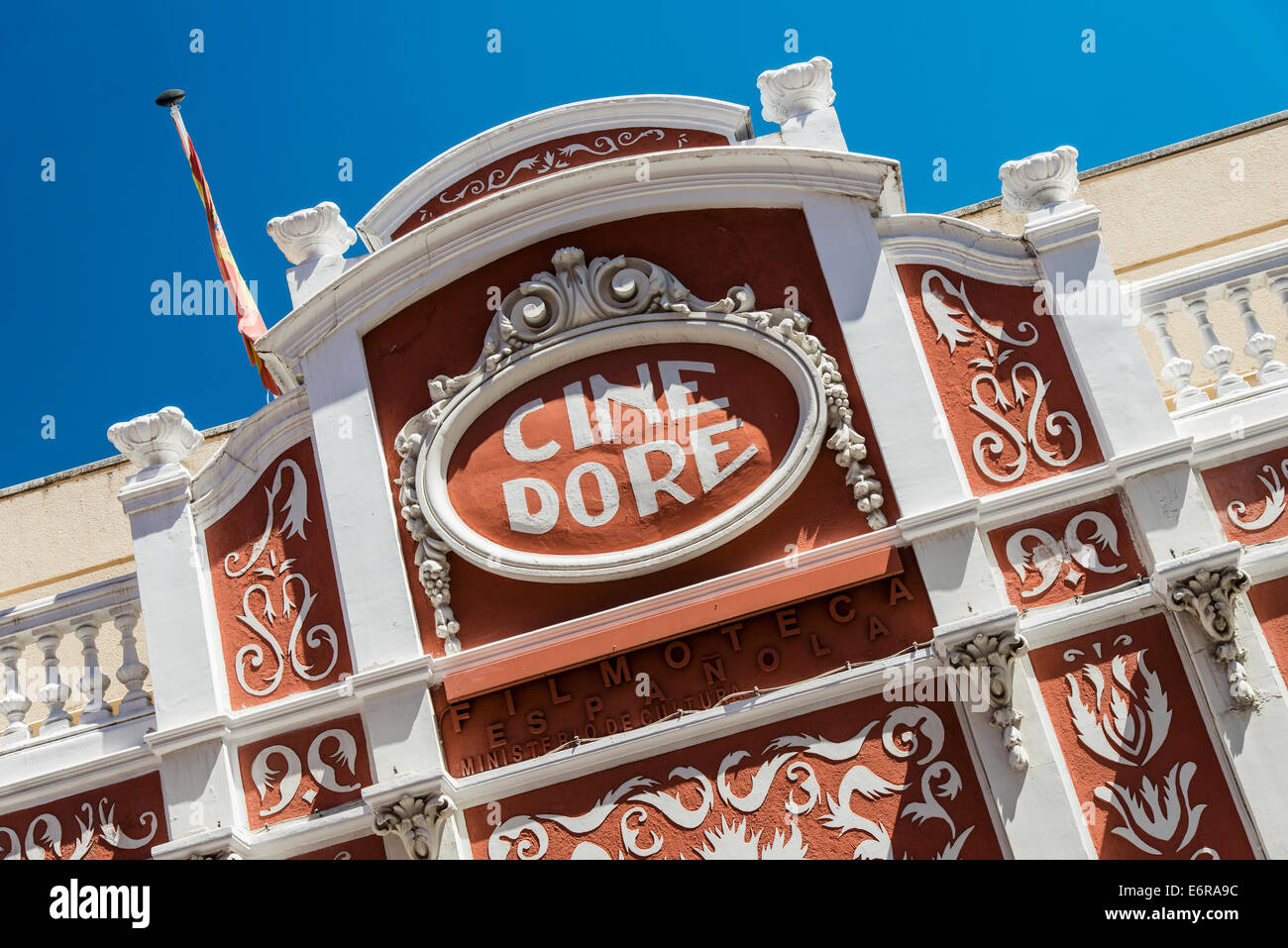 Cine Dore, the oldest cinema in Madrid now houses the Spanish Film Library exhibit room, Madrid, Spain - Stock Image