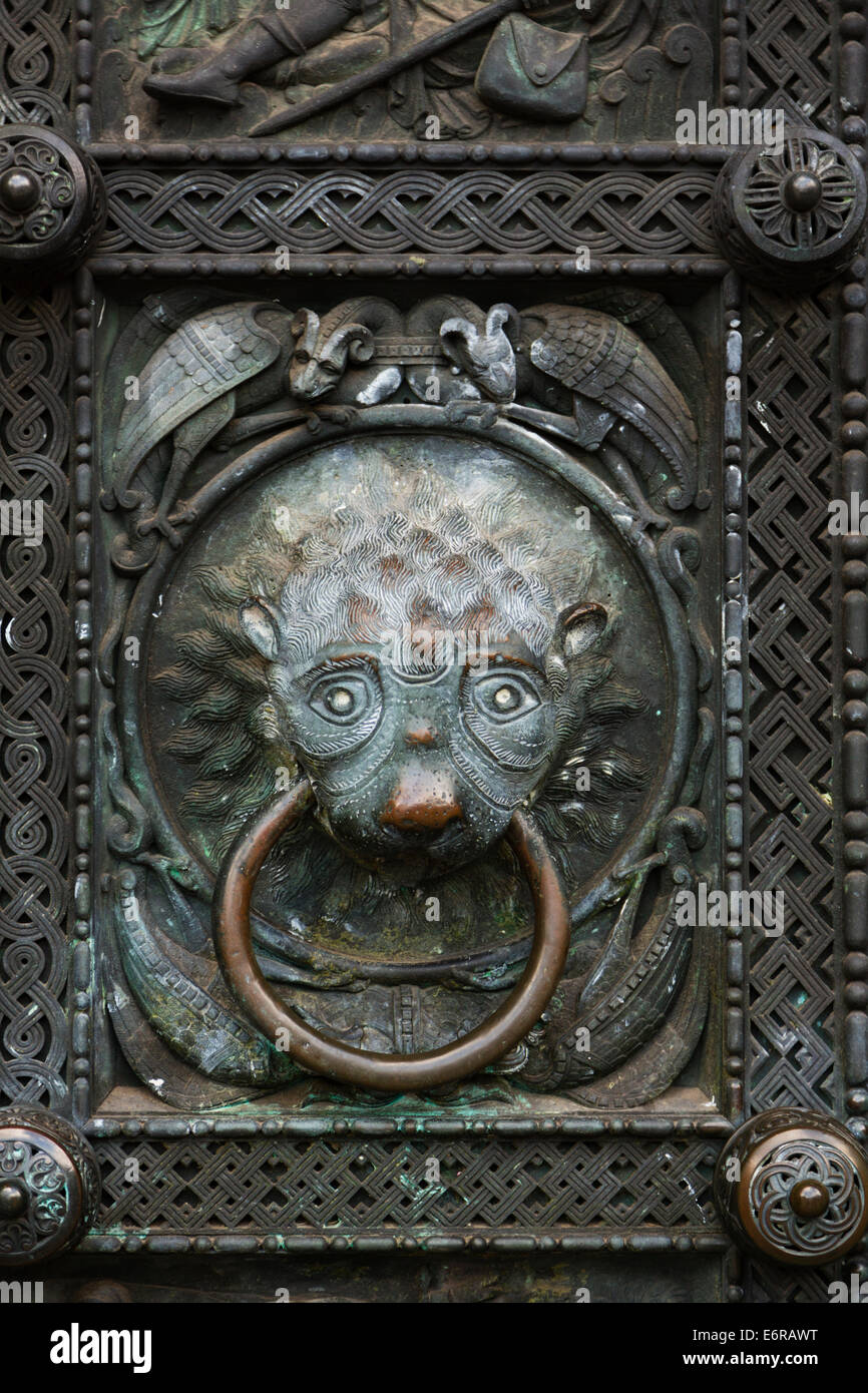 Detail from the main doors of St Petri Dom, Bremen, Germany. Stock Photo