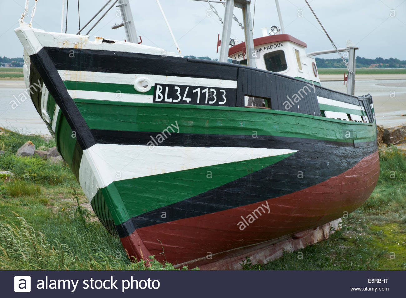 St Antoine de Padoue BL341133 Local history safeguarded by the local association of the sea Le Crotoy, Baie de Seine - Stock Image