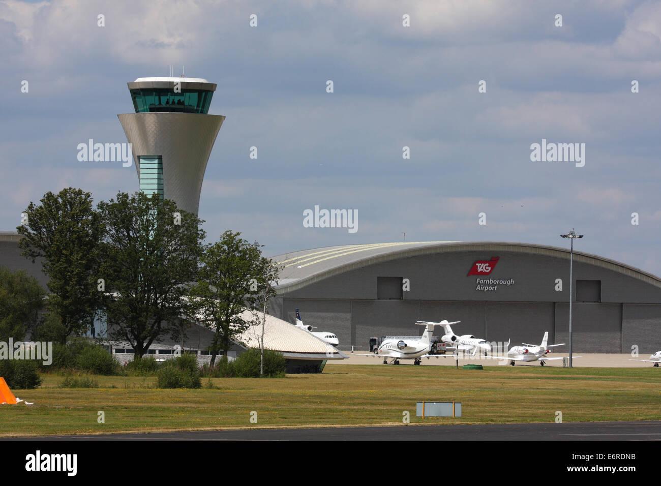 FARNBOROUGH AIRPORT HAMPSHIRE ENGLAND - Stock Image