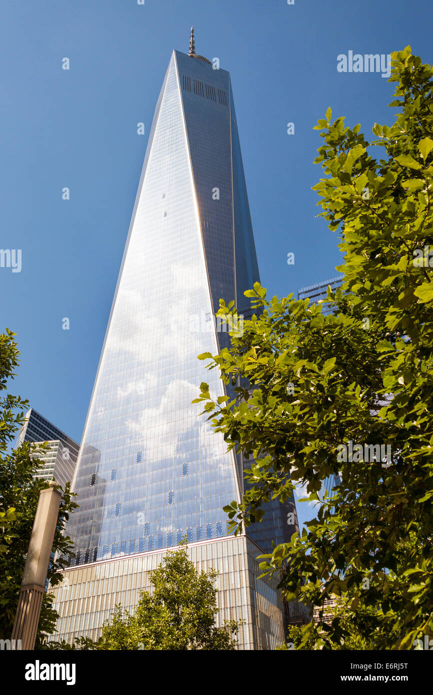 One World Trade Center also known as Tower 1 and Freedom Tower, Manhattan, New York City, New York, USA - Stock Image