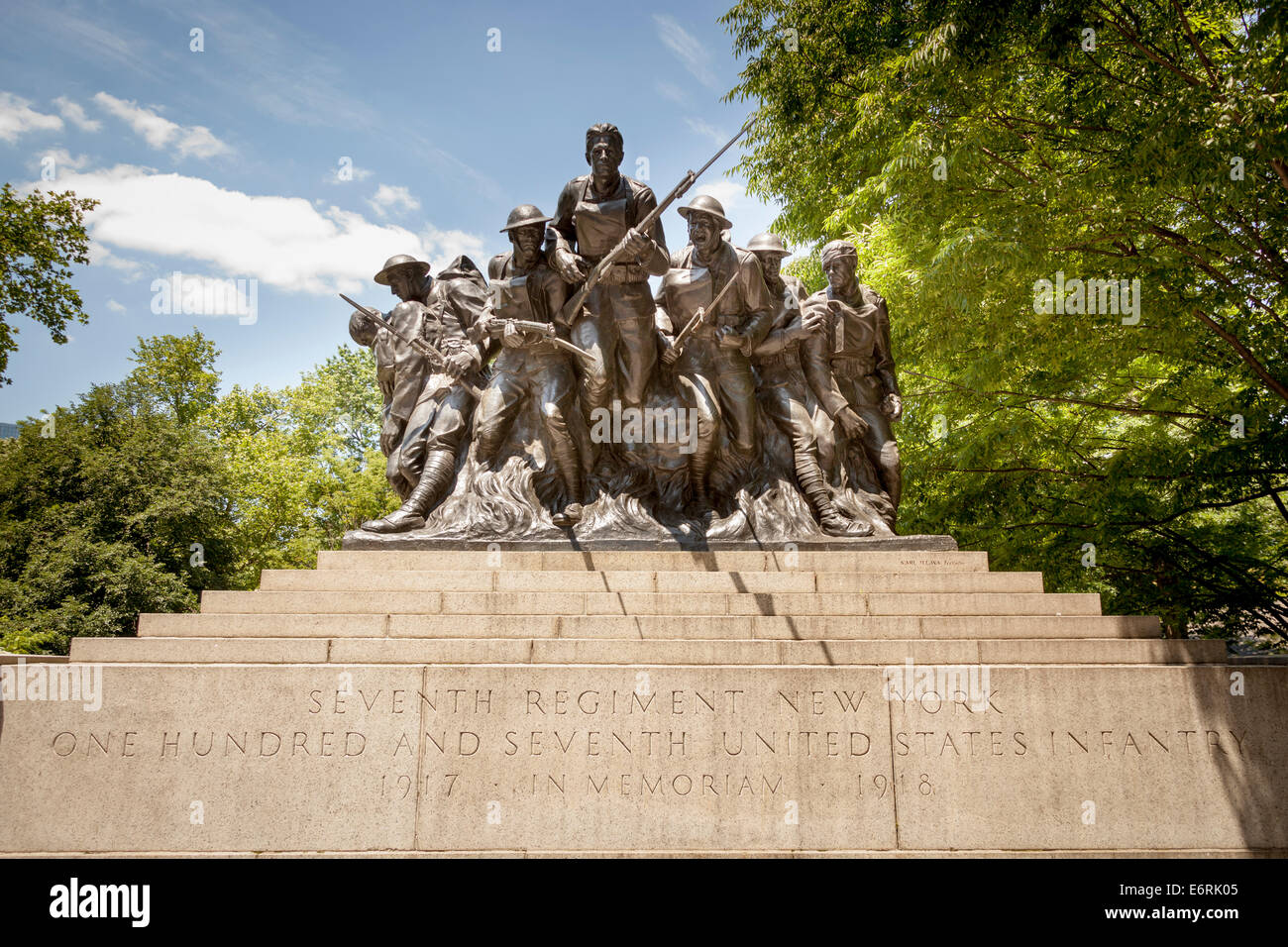 Seventh Regiment 107th United States Infantry Memorial, Central Park, 5th Avenue, Manhattan, New York City, New Stock Photo