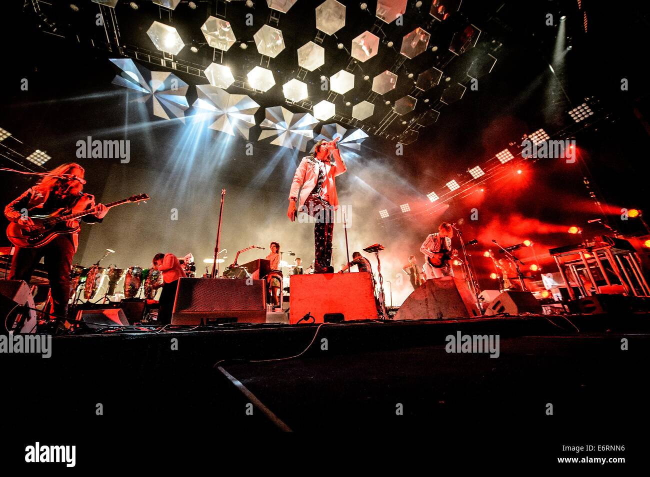 Toronto, Ontario, Canada. 29th Aug, 2014. Canadian indie rock band Arcade Fire perfromed sold out show at Molson - Stock Image