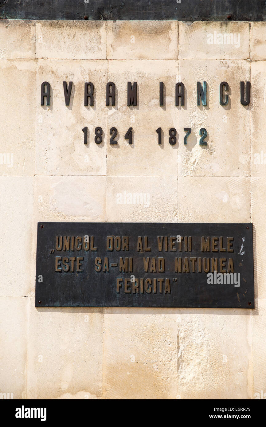 Details on the monument to Avram Iancu - Stock Image