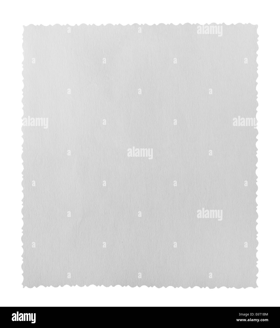 White paper texture or background on a white background. Clipping Path - Stock Image