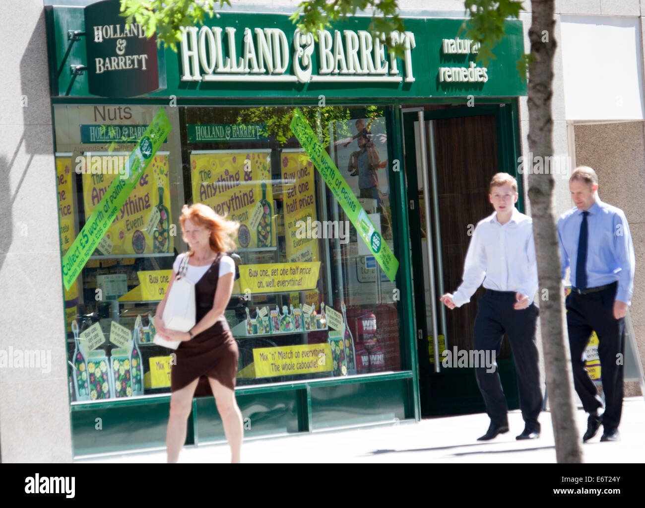 Holland and Barrett health food shop, London - Stock Image