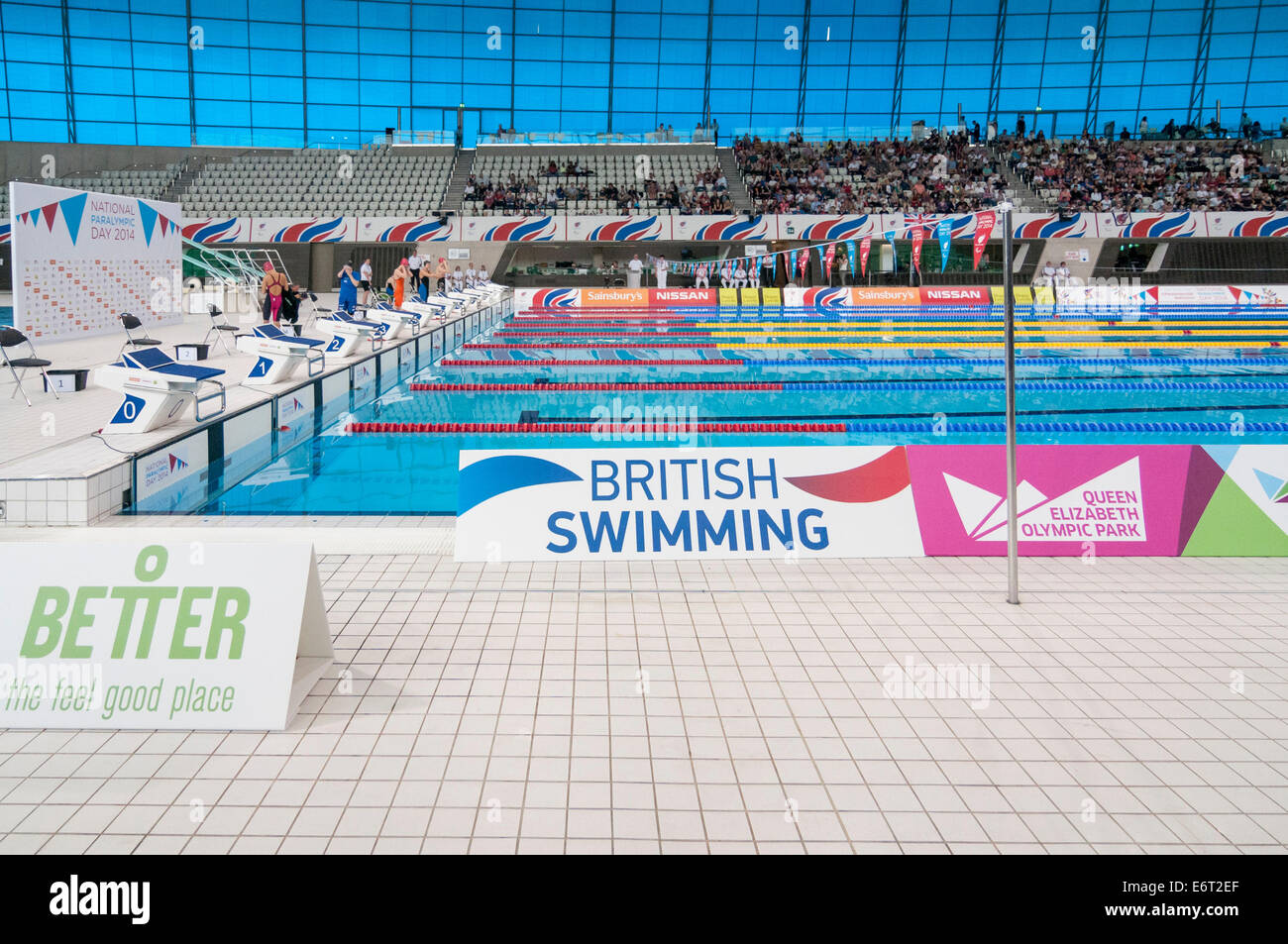 The queen elizabeth olympic park 2014 stock photos the - Queen elizabeth olympic park swimming pool ...