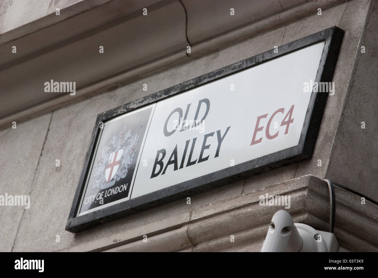 Old Bailey, Street sign, London - Stock Image
